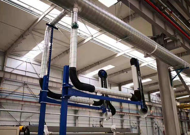 China 3 + 3m Length Fume Extraction Arms Anti - Chemical Aluminum Ally Supporting supplier