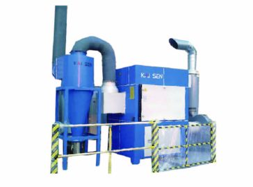 China Split Up Type Central Dust Collector With Cyclone Separator Large Air Flow distributor