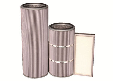 China Glass Fiber Medium HEPA Cartridge Filter For Oily / Glutinous Fume Dust distributor