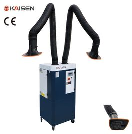 China Mobile Welding Dust Collector Two 3m Arm Automatic PLC Pulse Cleaning System distributor